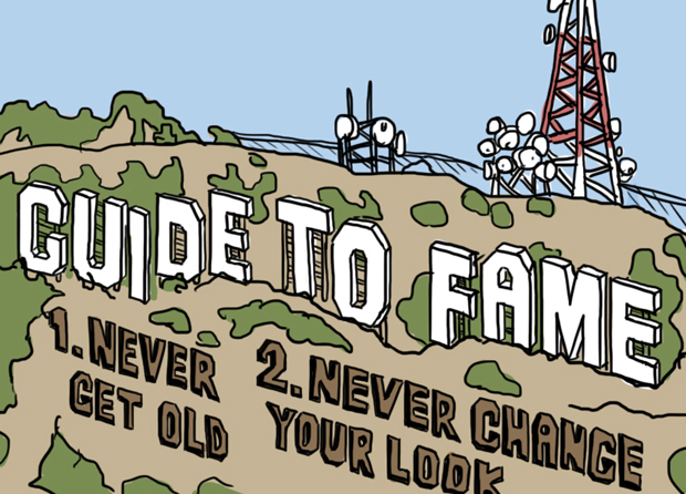Guide-to-fame-never-get-old-illustration-Nicholas-Luchak-Screaming-in-all-caps